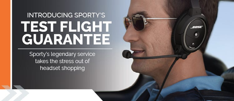 Aviation Headset test flight guarantee