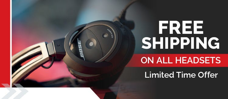 Free Shipping on all headsets