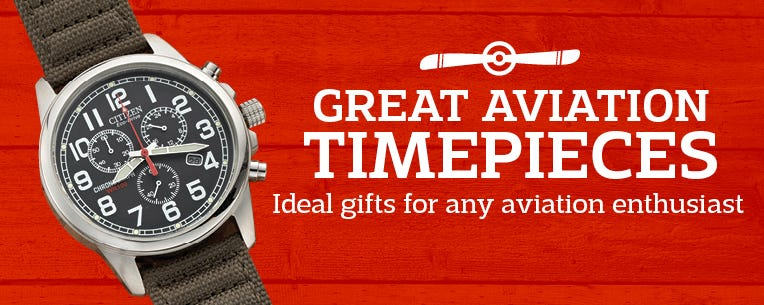 Great Aviation Timepieces - ideal gifts for any aviation enthusiast