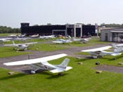 Sporty's airport with planes