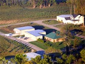 Airpark home aerial shot