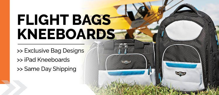 Flight bags and kneeboards for pilots