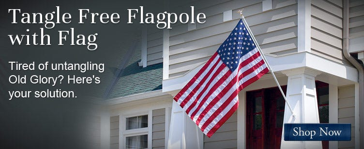 Tangle Free Flagpole with Flag
