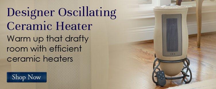 Designer Oscillating Ceramic Heater
