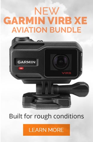 Garmin VIRB XE HD Video Camera Aviation Bundle