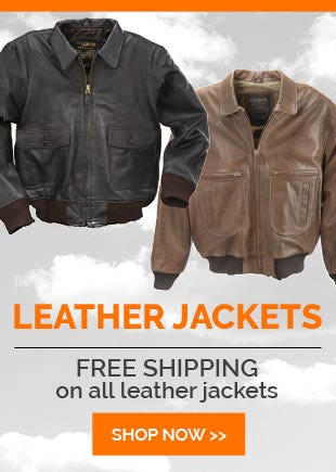 Free Shipping Leather Flight Jackets