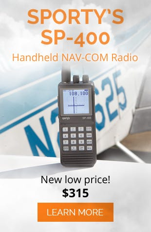 Sporty's SP-400 Handheld NAV/COM Aviation Radio