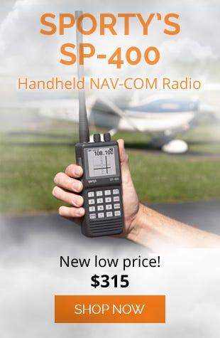 Sporty's SP-400 Handheld NAV/COM Aviation Radio