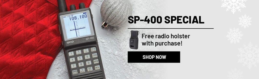 Free Radio Holster with SP-400 purchase