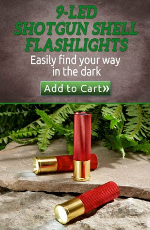 9-LED Shotgun Shell Flashlights