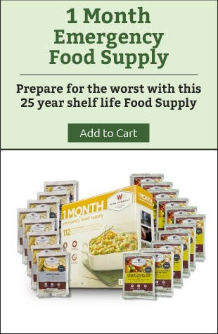 1 Month Emergency Food Supply
