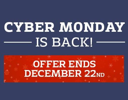Cyber Monday is back