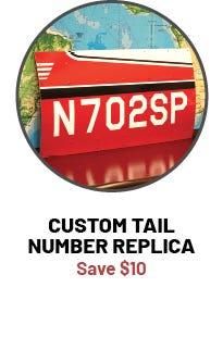 Replica Tail Number Sign