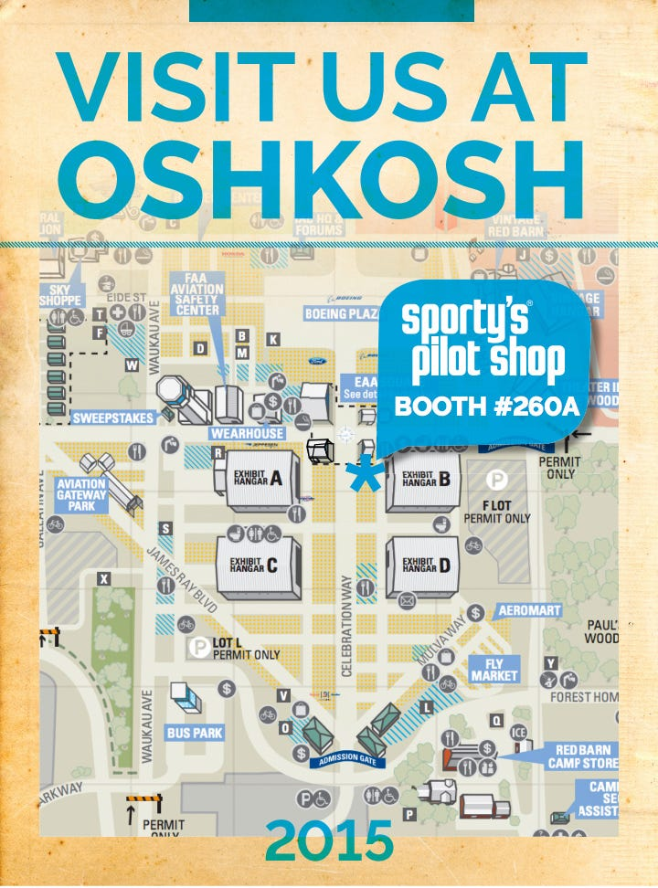 Sportys at Oshkosh from Sportys Pilot Shop